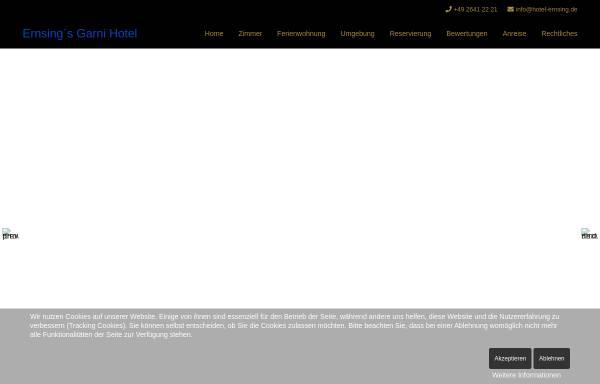 Vorschau von www.hotel-ernsing.de, Erning`s Garni Hotel