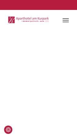Vorschau der mobilen Webseite www.aparthotel-bad-neuenahr.de, Aparthotel am Kurpark