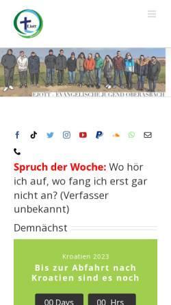 Vorschau der mobilen Webseite ej-oberasbach.de, Evangelische Jugend Oberasbach