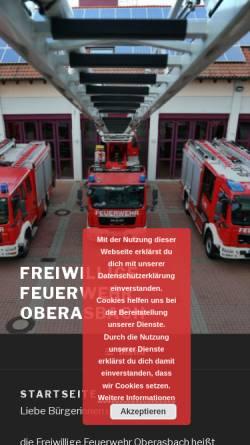 Vorschau der mobilen Webseite www.feuerwehr-oberasbach.de, Freiwillige Feuerwehr Oberasbach