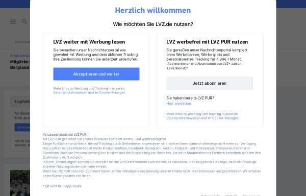 Vorschau von www.lvz.de, Leipziger Volkszeitung Online