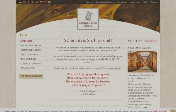 Vorschau von www.auerbachs-keller-leipzig.de, Auerbachs Keller Leipzig