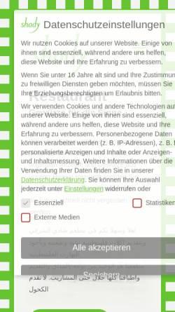 Vorschau der mobilen Webseite www.shady-leipzig.de, shady cafe - bar - restaurant