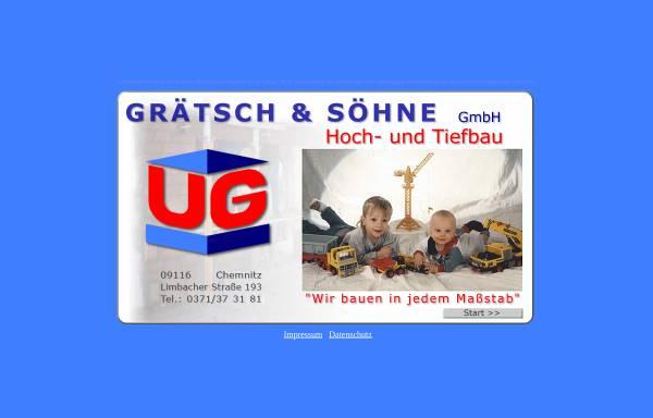 Vorschau von www.graetsch-bau.de, Grätsch & Söhne GmbH