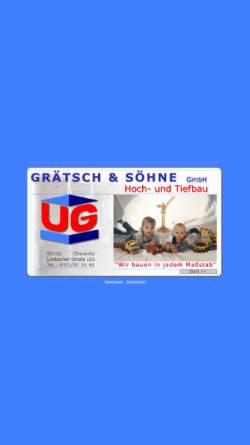 Vorschau der mobilen Webseite www.graetsch-bau.de, Grätsch & Söhne GmbH