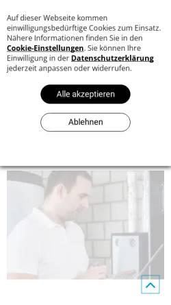 Vorschau der mobilen Webseite www.schieck-gmbh.de, Harry Schieck GmbH