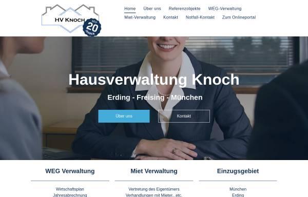 Vorschau von www.hv-knoch.de, Hausverwaltung Knoch