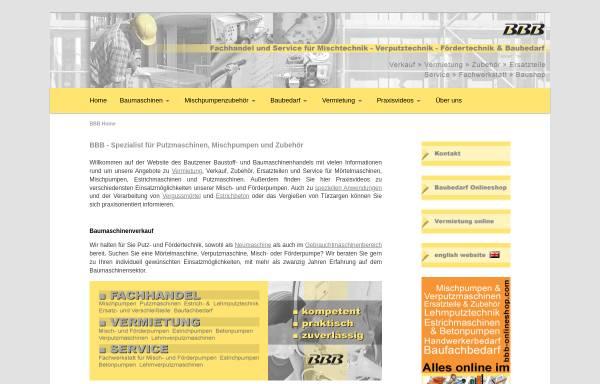 Vorschau von www.bbb-online.de, Bautzener Baustoff- und Baumaschinenhandel GmbH