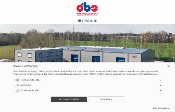 Vorschau von www.obs-gmbh-bautzen.de, Ostsächsischen Bautenschutz und Reinigungsservice GmbH