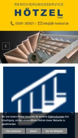 Vorschau der mobilen Webseite www.tueren-treppenrenovierung-hoetzel.de, Renovierungsservice Hötzel