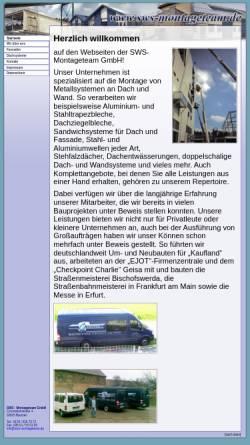 Vorschau der mobilen Webseite www.sws-montageteam.de, SWS-Montageteam GmbH