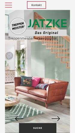 Vorschau der mobilen Webseite www.treppenbau-jatzke.de, Treppenbau Jatzke