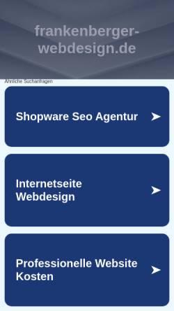 Vorschau der mobilen Webseite www.frankenberger-webdesign.de, frankenberger webdesign