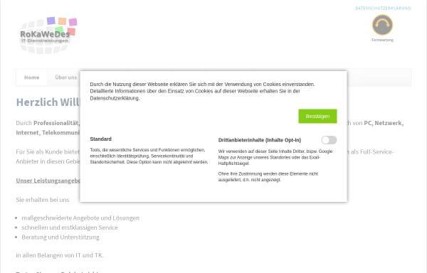 Vorschau von www.rokawedes.de, RoKaWeDes IT-Dienstleistungen