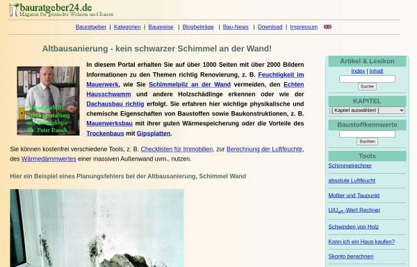 Vorschau von www.ib-rauch.de, ib-rauch.de / Bauratgeber24 - Peter Rauch, Ingenieurbüro