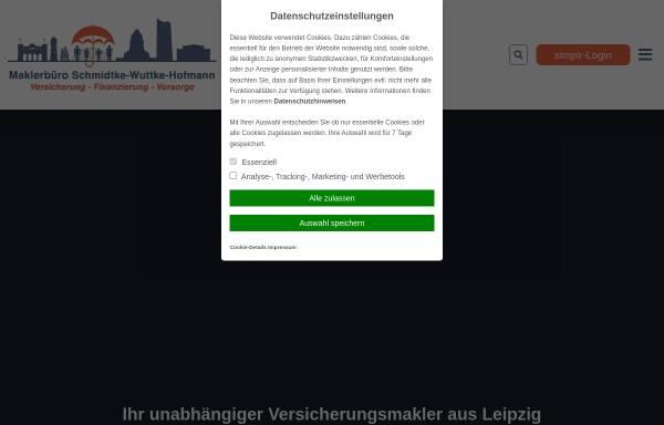 Vorschau von www.versicherungsvergleich-leipzig.de, Maklerbüro Schmidtke-Wuttke-Hofmann