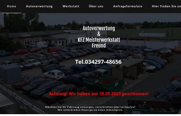 Vorschau von www.autoverwertung-freund.de, Autoverwertung Thomas Freund