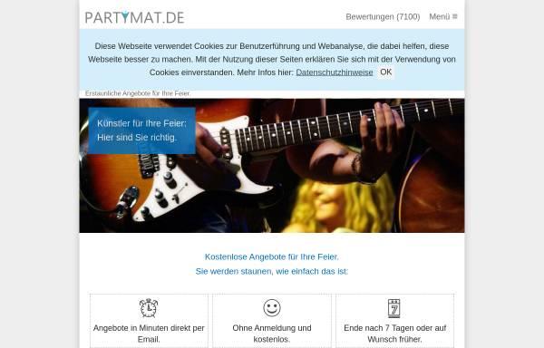 Vorschau von www.partymat.de, Partymat GbR - Onlineagentur