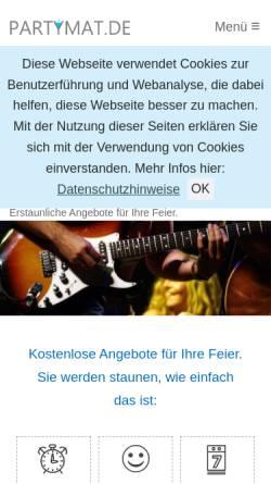 Vorschau der mobilen Webseite www.partymat.de, Partymat GbR - Onlineagentur