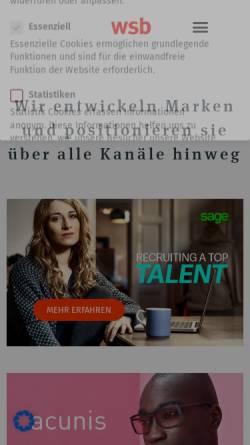 Vorschau der mobilen Webseite www.wsb-werbeagentur.de, WSB Werbeagentur GmbH