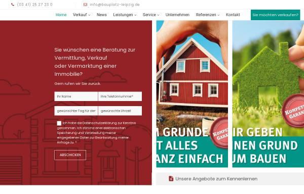 Vorschau von www.bauplatz-leipzig.de, BGS Bauherren Grundstücksservice GmbH