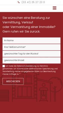 Vorschau der mobilen Webseite www.bauplatz-leipzig.de, BGS Bauherren Grundstücksservice GmbH