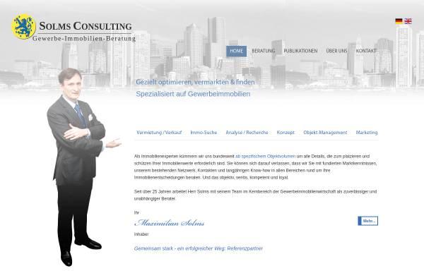 Vorschau von SolmsConsulting.de, SOLMS CONSULTING Gewerbe-Immobilien-Beratung