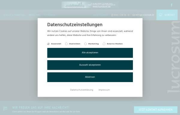 Vorschau von www.lucrosum.de, lucrosum Immobilienvermittlungs-GmbH & Co. KG