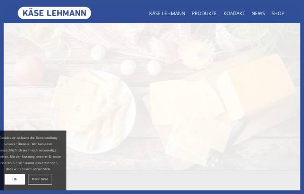 Vorschau von www.kaese-lehmann.com, Käse Lehmann Handels GmbH