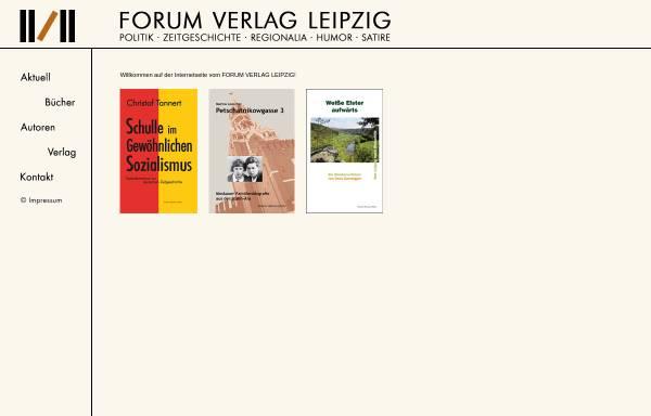Vorschau von www.forumverlagleipzig.de, Forum Verlag Leipzig Buch-Gesellschaft mbH