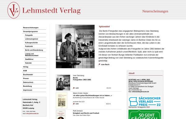 Vorschau von www.lehmstedt.de, Lehmstedt Verlag Leipzig
