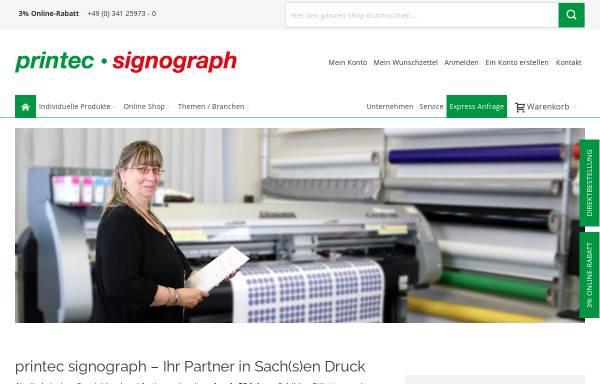Vorschau von www.printec-signograph.de, Printec Signograph GmbH