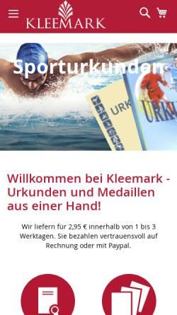 Vorschau der mobilen Webseite urkunden.com, Die Urkunde