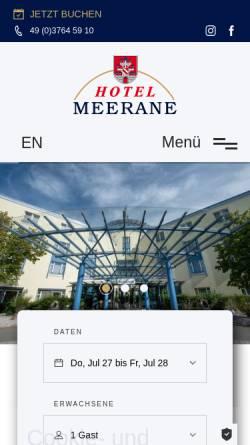 Vorschau der mobilen Webseite www.hotel-meerane.de, Hotel Meerane