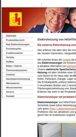 Vorschau der mobilen Webseite hightherm-elektroheizung.de, Hightherm Elektroheizung Elektroheizungen