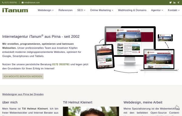 Vorschau von www.itanum.com, iTanum Internetagentur