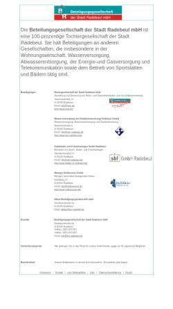 Vorschau der mobilen Webseite www.bzgr.de, Besitzgesellschaft der Stadt Radebeul GmbH
