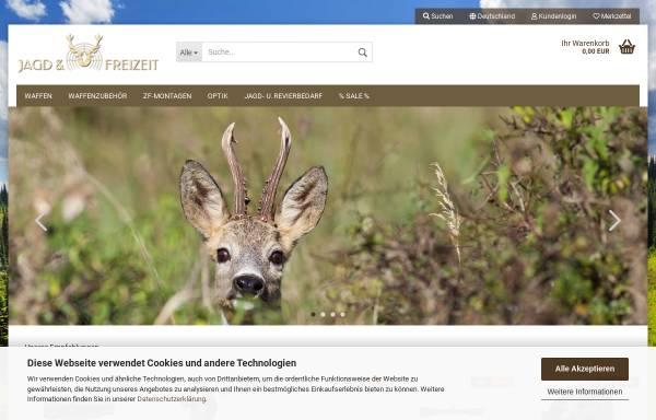 Vorschau von www.jagdundfreizeit.de, Jagd und Freizeit, Gert Neidhardt