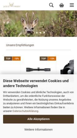 Vorschau der mobilen Webseite www.jagdundfreizeit.de, Jagd und Freizeit, Gert Neidhardt