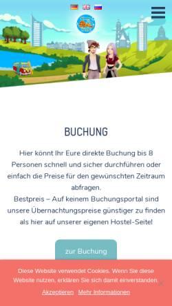 Vorschau der mobilen Webseite www.hostel-leipzig.de, Hostel Sleepy Lion