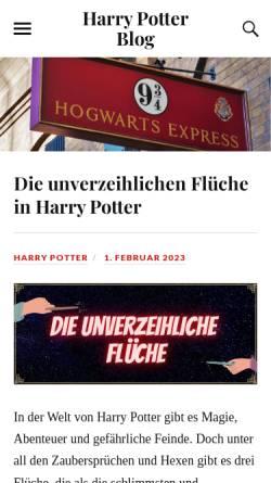 Vorschau der mobilen Webseite www.zaubererbau.de, Harry-Potter-Blog