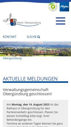 Vorschau der mobilen Webseite oberguenzburg.de, Bistro Filou