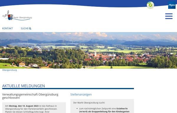 Vorschau von www.oberguenzburg.de, Obergünzburg
