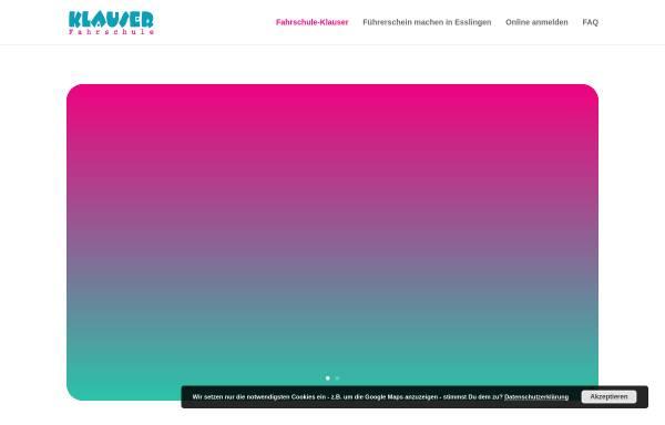 Vorschau von www.klauser.de, Fahrschule Klauser