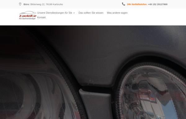 Vorschau von kfz-sachverstaendiger-kadelke.de, KfZ-Sachverständiger Sascha Kadelke