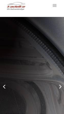 Vorschau der mobilen Webseite kfz-sachverstaendiger-kadelke.de, KfZ-Sachverständiger Sascha Kadelke