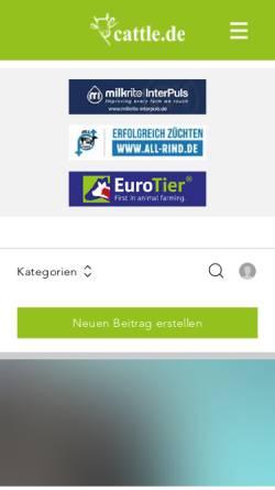 Vorschau der mobilen Webseite www.cattle.de, cattle.de