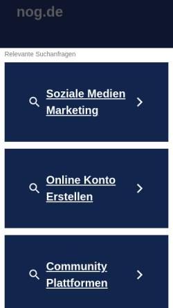 Vorschau der mobilen Webseite www.nog.de, Nord-Ost Genetic GmbH & Co KG
