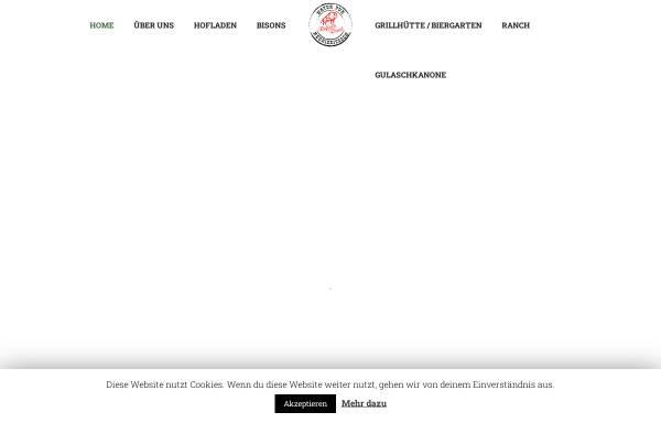 Vorschau von www.buffalo-ranch.de, Buffalo Ranch