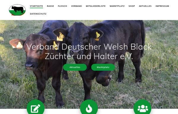 Vorschau von welshblack.de, Verband Deutscher Welsh Black Züchter und -Halter